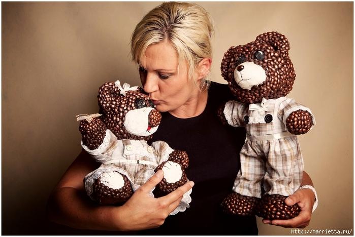 медведи из папье-маше и кофейных зерен (8) (700x468, 252Kb)