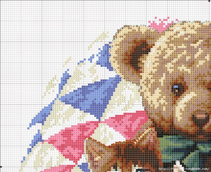 Схема вышивки Медвежонок с Котятами (6) (700x572, 425Kb)