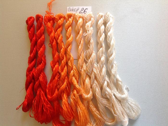 Шелковые нитки для вышивки в китае