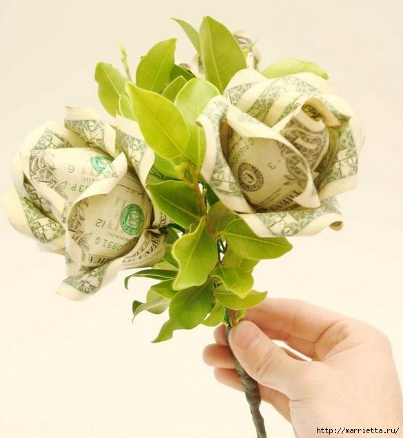 Как сделать розу из купюры своими руками