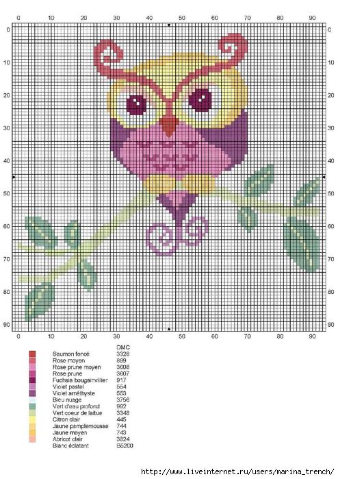 Chouette-arabesques (494x700, 276Kb)