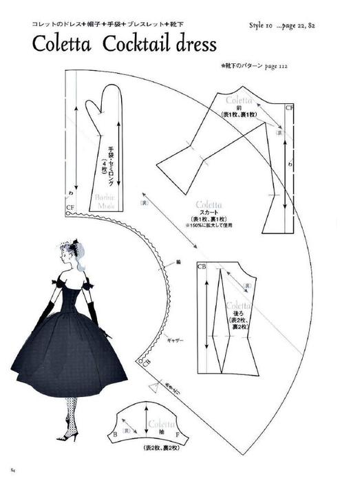 Платья на кукол барби своими руками выкройки