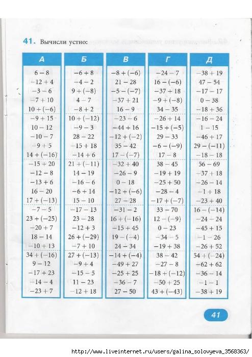 Ответы по математике на диктанты 6 класс жохов