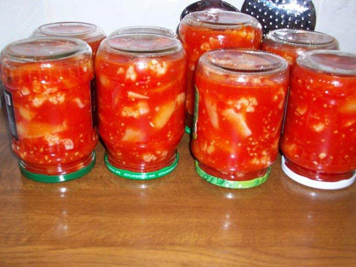 цветная капуста на зиму рецепты с фото в томате
