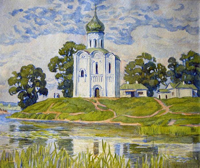 Нарисовать храм акварелью 174