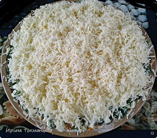 рецепты салата с копченой куриной грудкой слоями