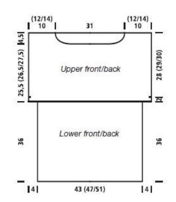 Летняя туника спицами с кокеткой крючком (2) (343x395, 33Kb)
