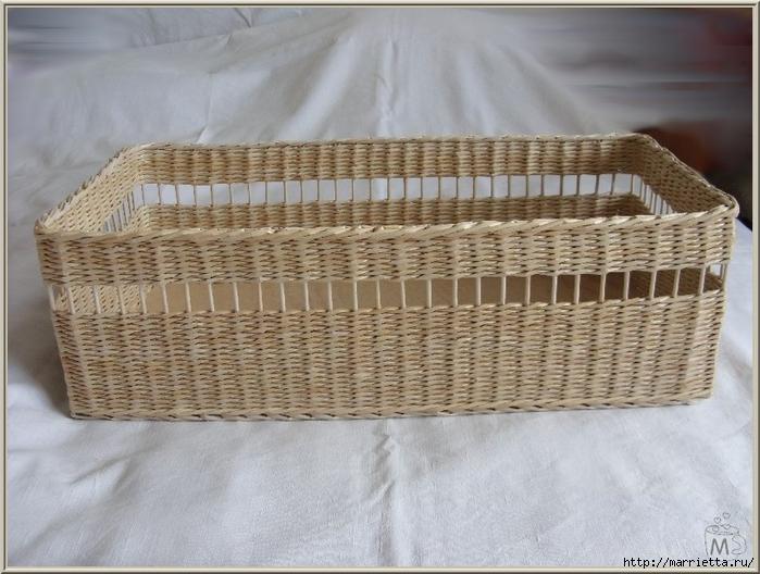 Плетение из газет. Оплетаем коробку (14) (700x528, 268Kb)