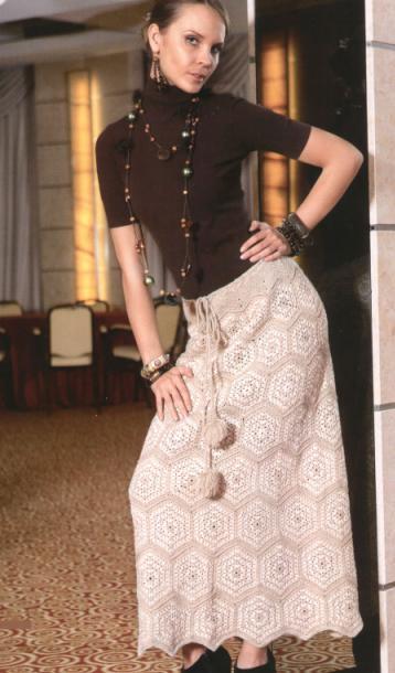 вязание спицами юбки с норвежским узором: