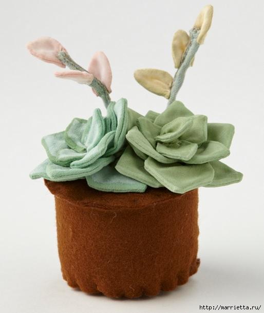 Комнатные растения из ткани. Суккуленты (2) (514x610, 125Kb)