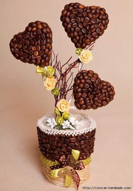 поделки из кофейных зерен (51) (458x659, 207Kb)