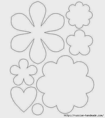 цветы из фетра (8) (444x497, 60Kb)