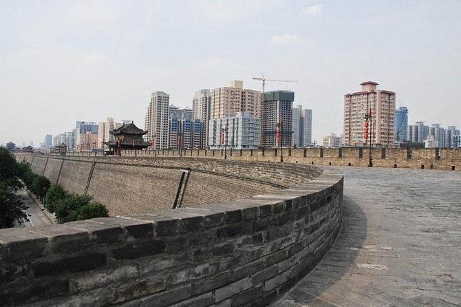 китайская стена город Сиань 8 (670x446, 199Kb)