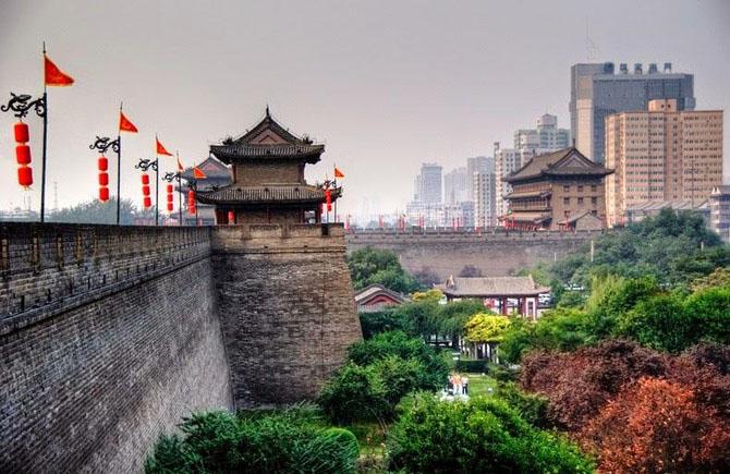 китайская стена город Сиань 10 (670x435, 270Kb)