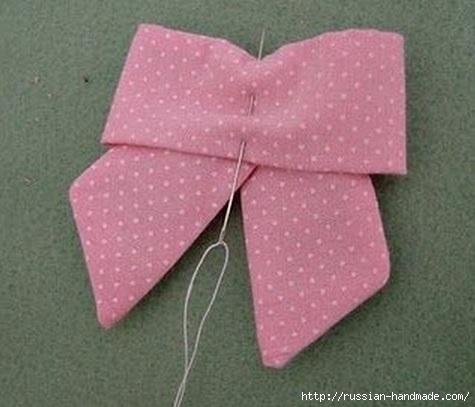Бантик для украшения детской одежды. Шитье (10) (475x407, 96Kb)