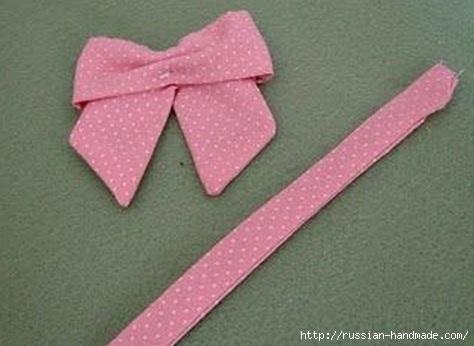 Бантик для украшения детской одежды. Шитье (12) (474x346, 83Kb)
