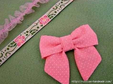 Бантик для украшения детской одежды. Шитье (14) (474x355, 100Kb)