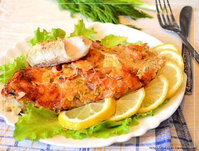 рецепты из филе рыбы под овощной шубой с фото