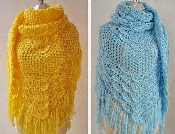 Вязание-шали крючком | Записи