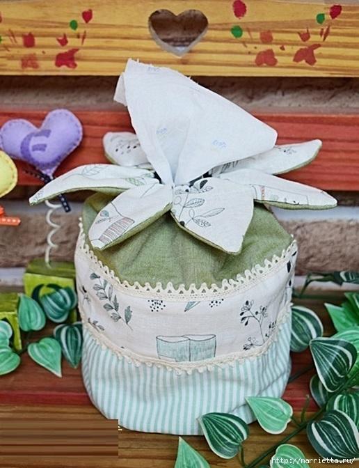 Bolsa de la materia textil por un rollo de papel higiénico.  Cosa ti mismo (2) (516x672, 221Kb)