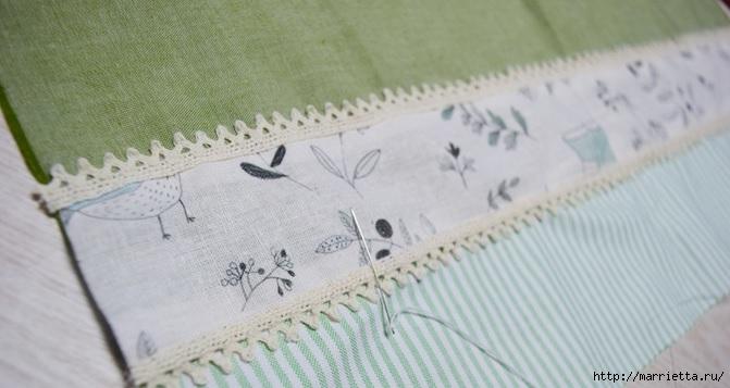 Bolsa de la materia textil por un rollo de papel higiénico.  Cosa ti mismo (9) (671x357, 133Kb)