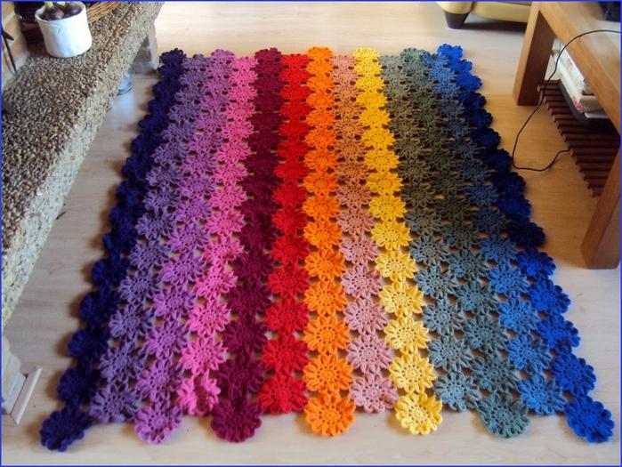 Вязание из остатков нитки