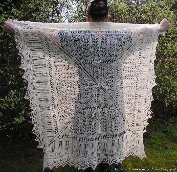 Квадратная шаль
