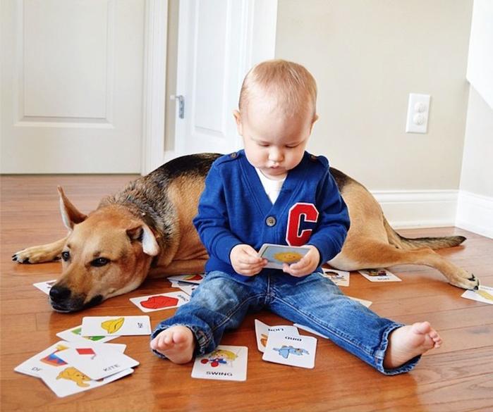 смешные фото детей и собак 14 (700x585, 353Kb)