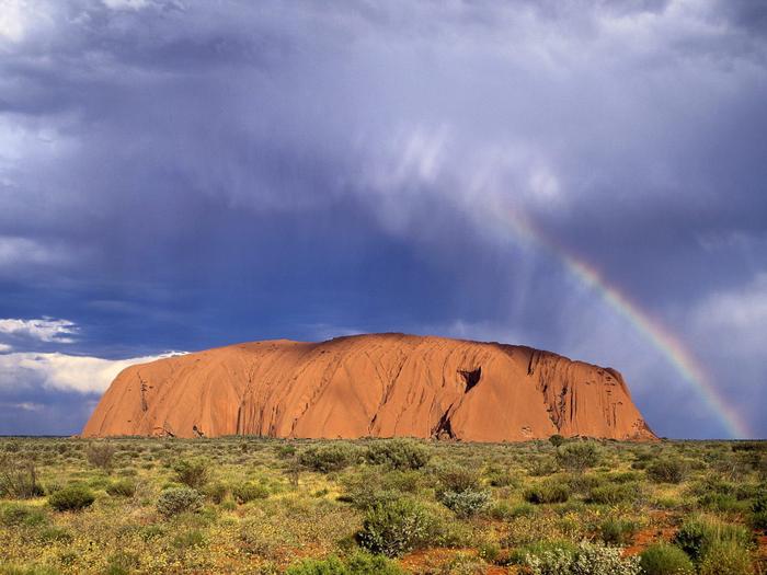 скала улуру австралия фото 6 (700x525, 363Kb)