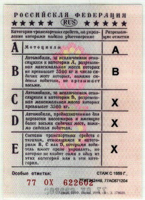 образец водительского удостоверения днр
