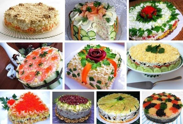 Оригинальные салаты на праздничный стол рецепты пошагово