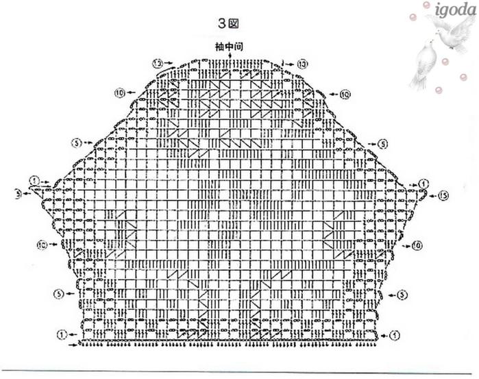 Филейное вязание летних кофточек схемы 244