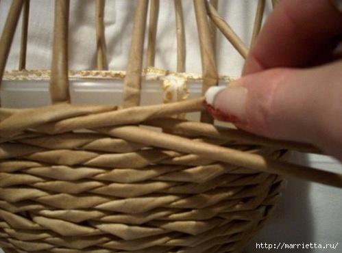Плетение из газет. Мастер-классы по плетению корзинок и вазочек (5) (499x370, 94Kb)