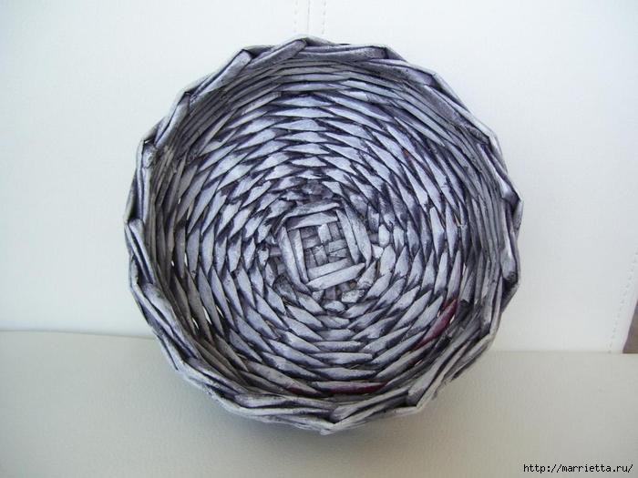 Плетение из газет. Мастер-классы по плетению корзинок и вазочек (32) (700x525, 235Kb)
