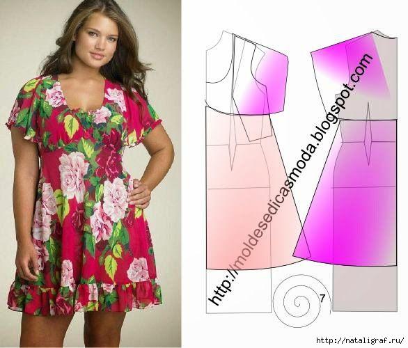 Раскроить платье на полную фигуру