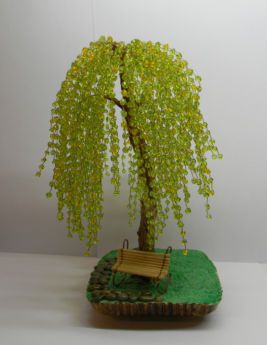 Дерево ива из бисера мастер класс - Онлайн курсы