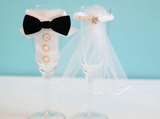 Свадебные бокалы своими руками фото пошагово жених