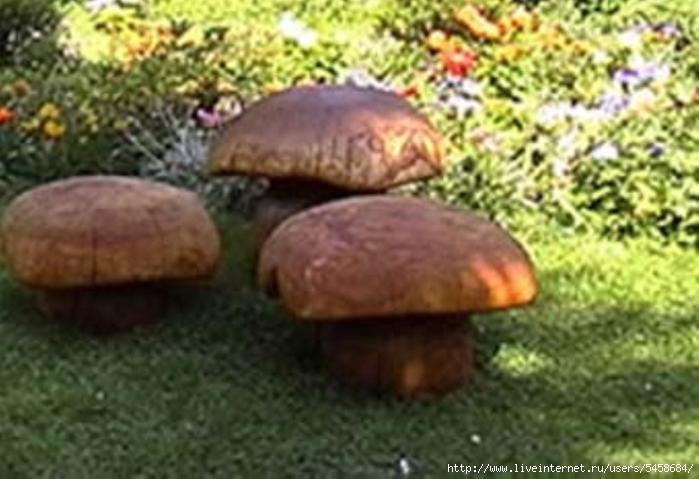 Как из бревна сделать гриб