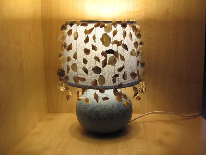 Поделки из ракушек светильники 36