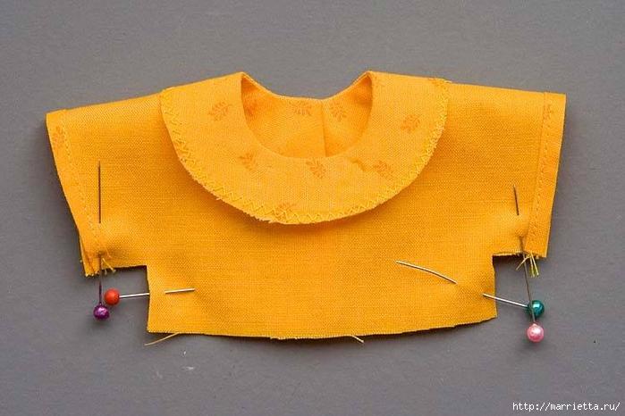 Как сшить платье для куклы. Высота куклы 26 см (7) (700x466, 224Kb)