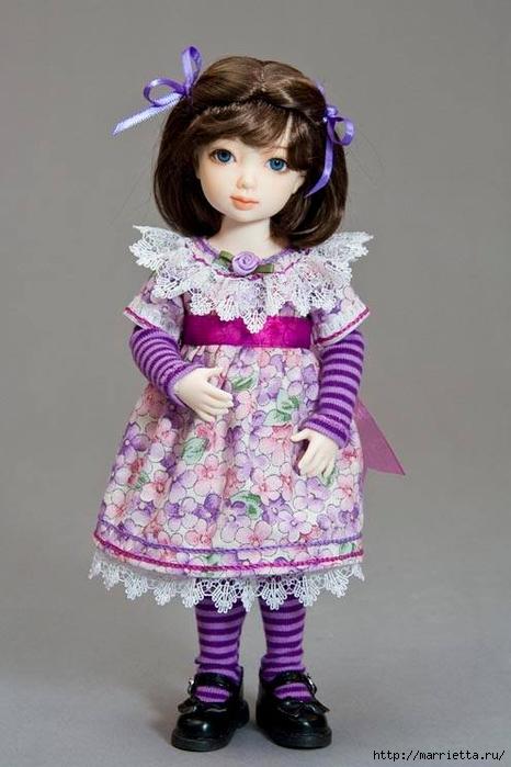 Как сшить платье для куклы. Высота куклы 26 см (13) (466x700, 181Kb)