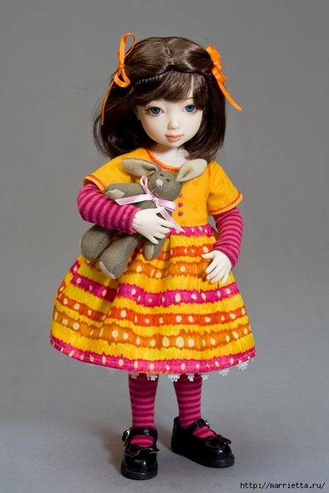 Как сшить платье для куклы. Высота куклы 26 см (15) (466x700, 177Kb)