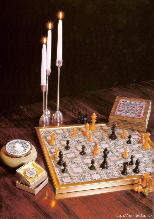 Вышиваем доску для шахмат. Схема (1) (491x700, 190Kb)