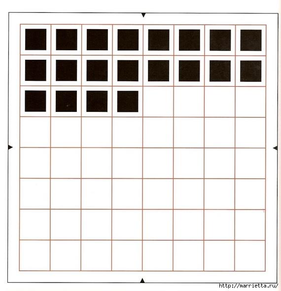 Блэкворк. Вышиваем доску для шахмат. Схема (2) (570x590, 117Kb)