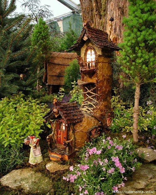 Домики для гномов в саду