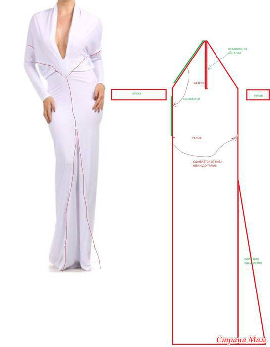 Как сшить платье-трансформер выкройка 75