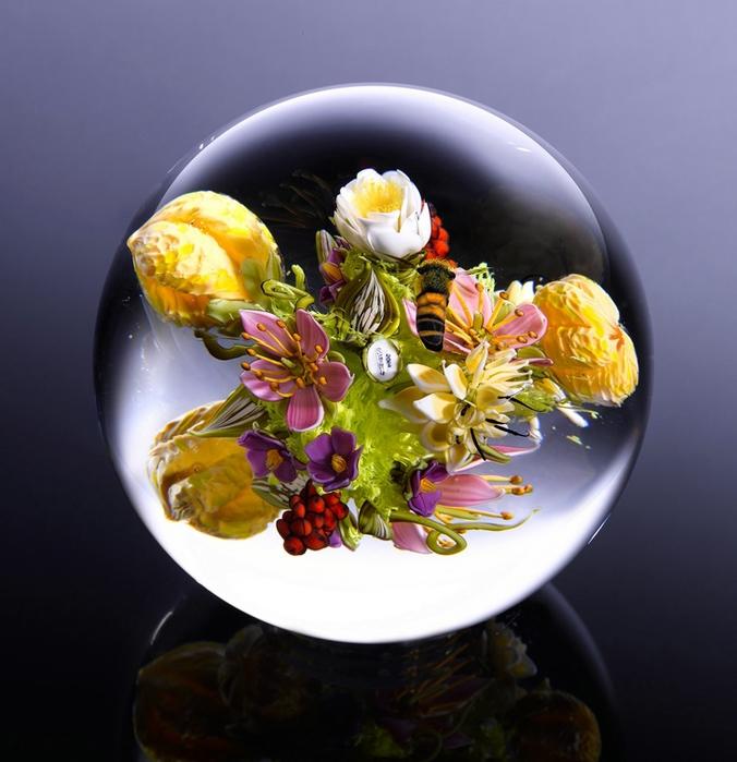 стеклянные шары Paul Stankard 2 (676x700, 249Kb)