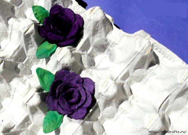 Цветы из пластиковых бутылок и яичных лотков (19) (630x454, 151Kb)