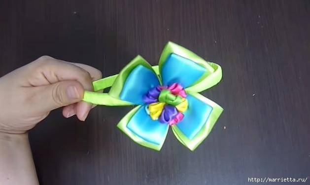 Фото цветок из ленты