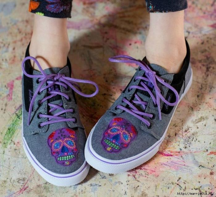Идеи украшения кроссовок и джинсов для подростков (1) (700x639, 332Kb)
